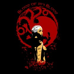 game of thrones t-shirt targaryen black sublimation