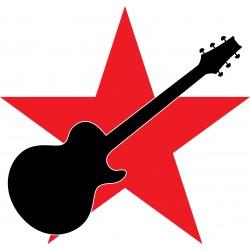 tee shirt star Guitar white...