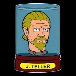 tee shirt Jax Teller parodie futurama  sublimation