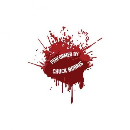 Chuck Norriseclats white blood sublimation t-shirt
