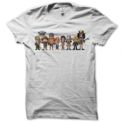 tee shirt one piece characters white pixel sublimation