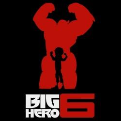 tee shirt big hero 6 black sublimation