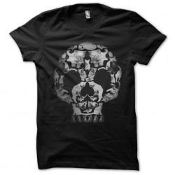 shirt skull cat black sublimation