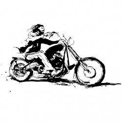 t-shirt bikers ride white...