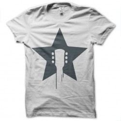 rock star white sublimation tee shirt