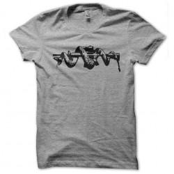tee shirt molon labe snake gray sublimation