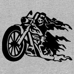 tee shirt Devil biker gris...