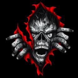 Zombie shirt effects black sublimation
