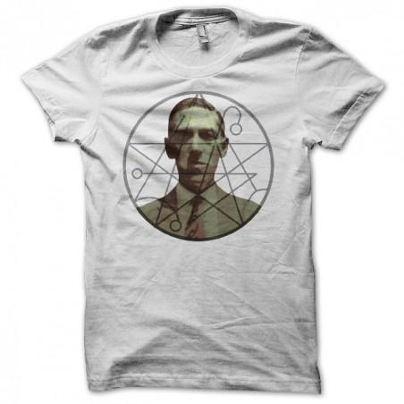 HP Lovecraft necronomicon symbol white sublimation t-shirt