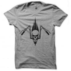 t-shirt biker skull gray...