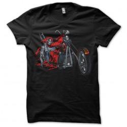 t-shirt skeleton biker...