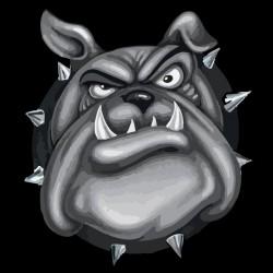 t-shirt bulldog black sublimation