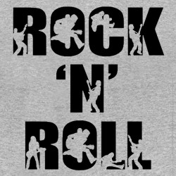 rock n roll t-shirt gray sublimation