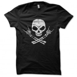 shirt skull rock black...
