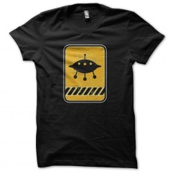 Tee shirt OVNI panneau grungy  sublimation