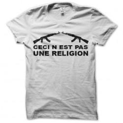 tee shirt ceci n'est pas une religion  sublimation