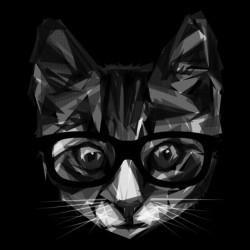 cat shirt 3D version black sublimation