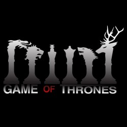 Game of Thrones t-shirt different symbols black sublimation