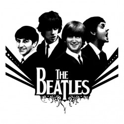 t-shirt The Beatles white sublimation group
