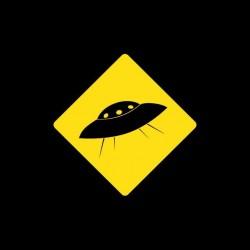 T-shirt UFO UFO warning black sublimation