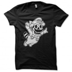 tee shirt super mario skull...