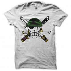 t-shirt zoro jolly roger white sublimation