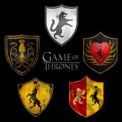 tee shirt game of thrones logo mosaic black sublimation