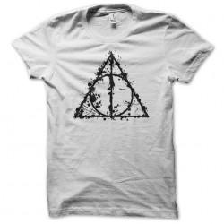 tee shirt princess mononoke artistic logo white sublimation
