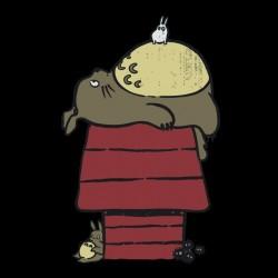 tee shirt totoro en pleine sieste  sublimation