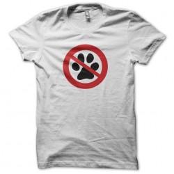 Dog T-shirt imprint prohibited white sublimation