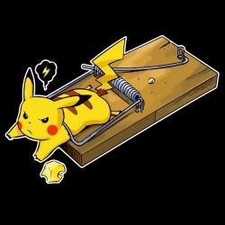 shirt Pikachu Piege mouse black sublimation