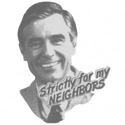 tee shirt mr rogers  sublimation
