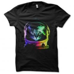 t-shirt astronaut cat black...