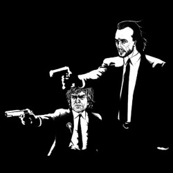 tee shirt game of thrones parody pulp fiction sublimation