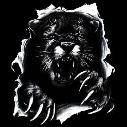 T-shirt Cougar torn black sublimation