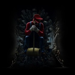 super mario t-shirt throne of games black sublimation