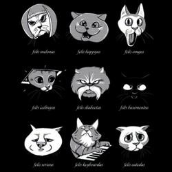 t-shirt cats black sublimation