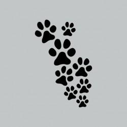 Dog tee-shirt prints paws gray sublimation