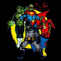 tee shirt Super Hero Turtles black sublimation