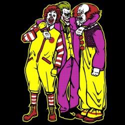 tee shirt ronald mcdonald the joker pennywise  sublimation