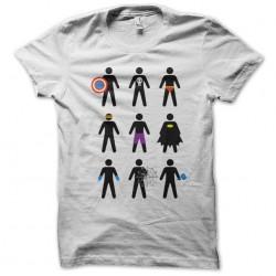 tee shirt minimalist superheroes  sublimation