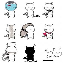 tee shirt all cat emotion...