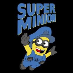 tee shirt Super Minion black sublimation