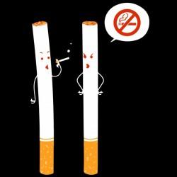 tee shirt no smoking sarcasm black sublimation