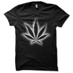 black sublimation marijuana tee shirt