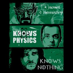 knowledge rules t-shirt breaking bad black sublimation