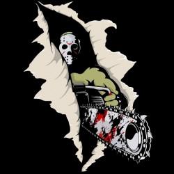 tee shirt psycho killer black sublimation