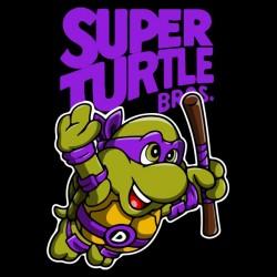 tee shirt super turtle bros black sublimation