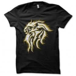 tee shirt flaming lion art...