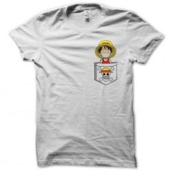 white luffy pocket t-shirt sublimation